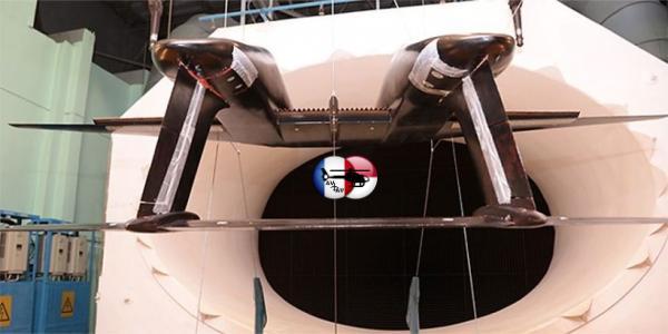 В ЦАГИ модель двухфюзеляжного самолёта проверили на режимах взлёта и посадки